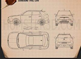 SsangYong Tivoli 2015 car clipart