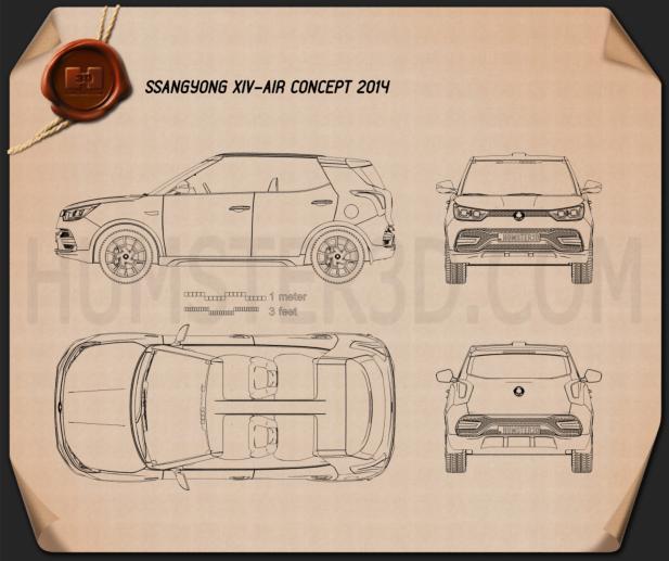 SsangYong XIV Air 2014 car clipart