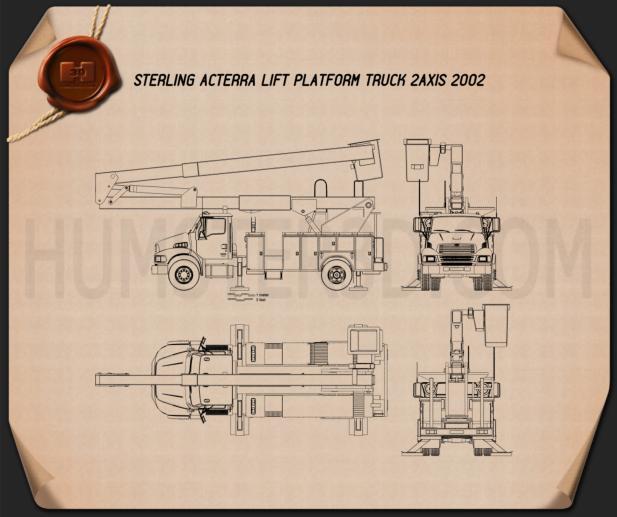 Sterling Acterra Lift Platform Truck 2002 Clipart Image