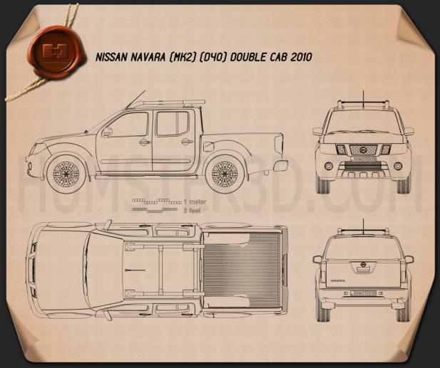 Nissan Navara (D40) Double Cab 2010 car clipart