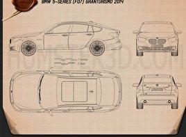 BMW 5 Series (F07) Gran Turismo 2014