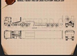 Renault Kerax Tractor Platform Trailer 2011