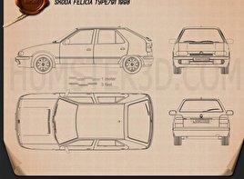 Skoda Felicia 1998 car clipart