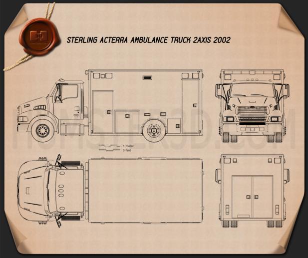 Sterling Acterra Krankenwagen Truck 2002 clipart