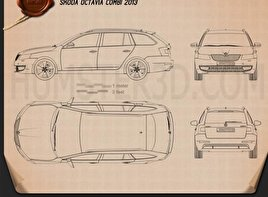 Skoda Octavia Combi 2013 car clipart