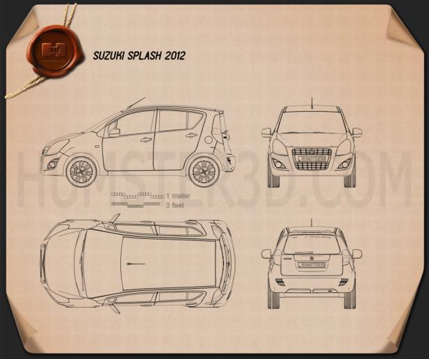 Suzuki Splash (Ritz) 2012 Clipart Image
