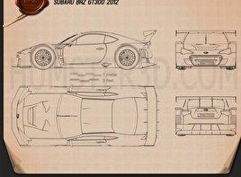 Subaru BRZ GT300 2013 car clipart