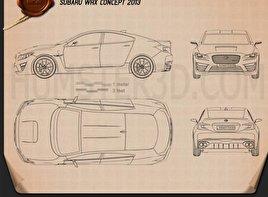 Subaru WRX concept 2013 car clipart