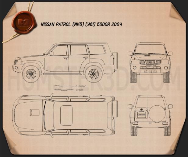 Nissan Patrol (Y61) 2004 car clipart