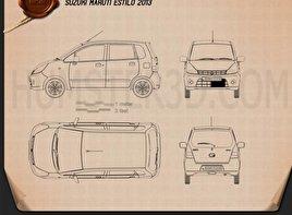 Suzuki (Maruti) Estilo 2013 car clipart