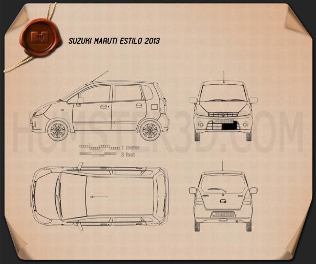 Suzuki (Maruti) Estilo 2013 Clipart Image