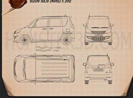 Suzuki Solio S 2012 car clipart