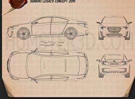 Subaru Legacy Concept 2015 car clipart