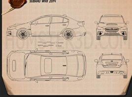 Subaru WRX 2014 car clipart