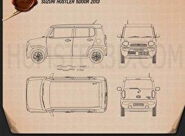 Suzuki Hustler 2013 clipart