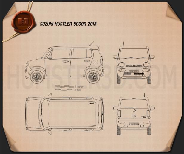 Suzuki Hustler 2013 Clipart Image