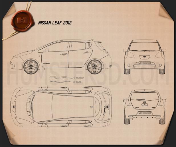 Nissan Leaf 2013 car clipart