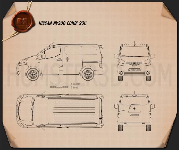 Nissan NV200 combi 2011 clipart