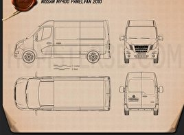 Nissan NV400 Panel Van 2010 clipart