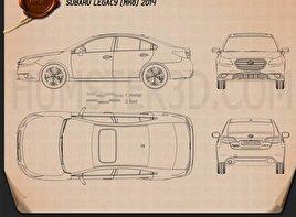 Subaru Legacy 2014 Clipart