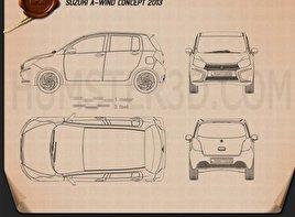 Suzuki A:Wind 2014 car clipart