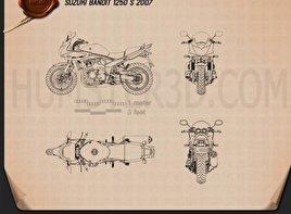 Suzuki Bandit 1250 S 2007 Moto clipart