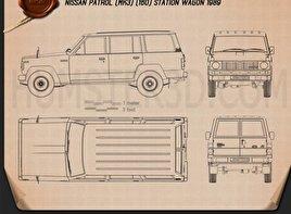 Nissan Patrol (160) 1980 car clipart