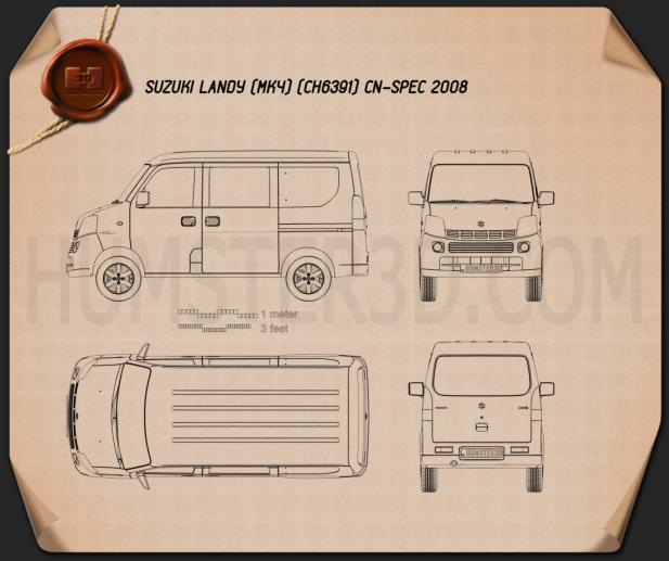 Suzuki Landy (CN) 2008 Clipart Bild