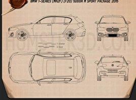 BMW 1 Series (F20) 5-türig M Sport Package 2015 car clipart