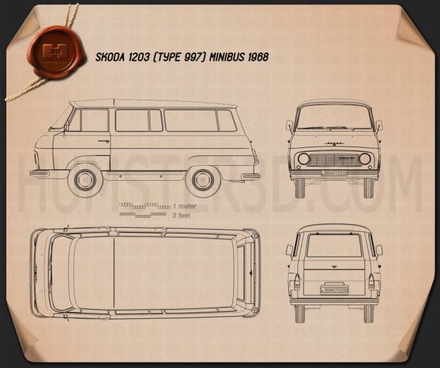 Skoda 1203 1968 clipart