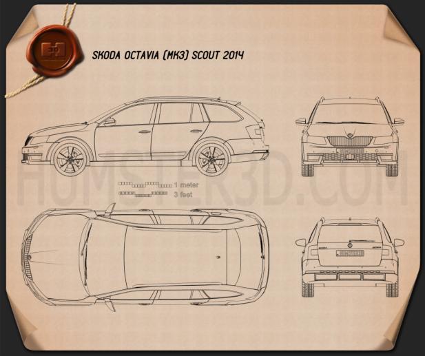 Skoda Octavia Scout 2014 car clipart