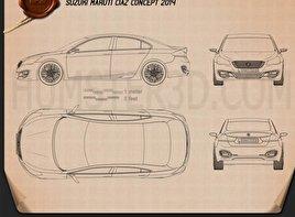 Suzuki (Maruti) Ciaz Concept 2014 car clipart