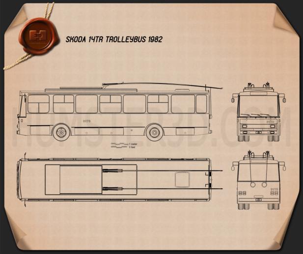 Skoda 14Tr Trolleybus 1982