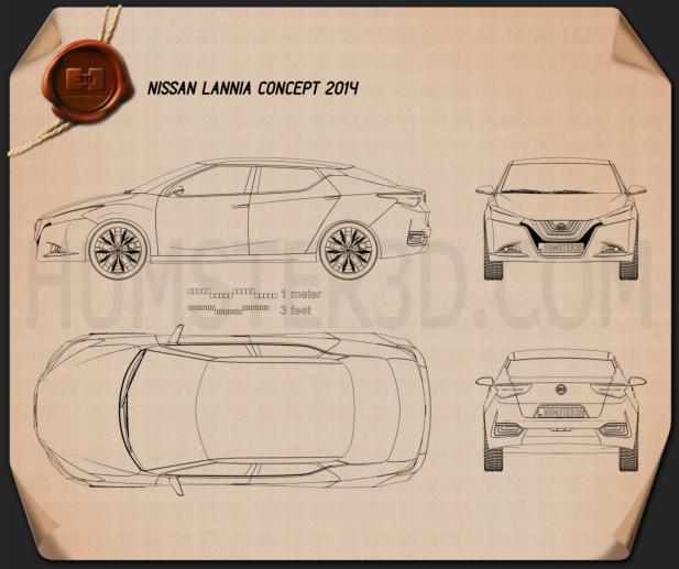 Nissan Lannia 2014 Clipart Image