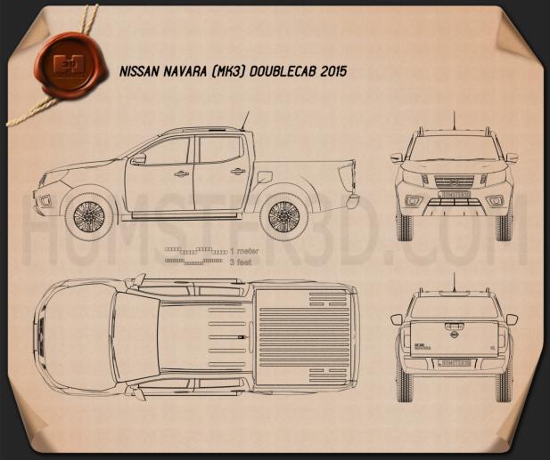 Nissan Navara Double Cab 2015 car clipart