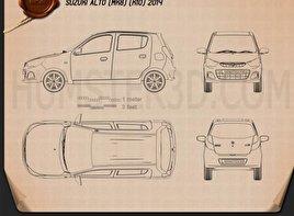 Suzuki Alto K10 2014 car clipart