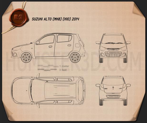 Suzuki Alto K10 2014 Clipart Image