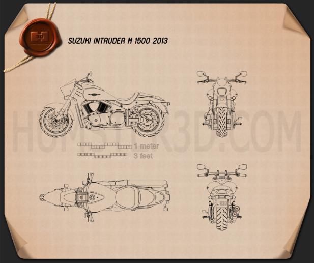 Suzuki Intruder M1500 2013 Motorcycle clipart