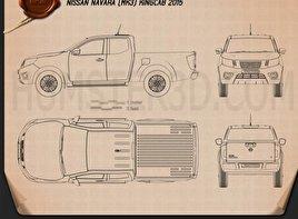 Nissan Navara King Cab 2015 Clipart