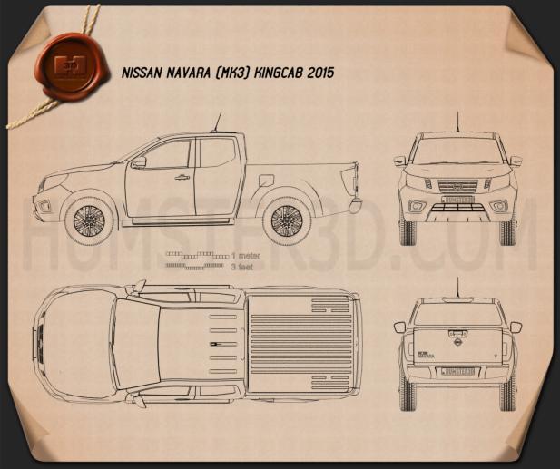 Nissan Navara King Cab 2015 car clipart