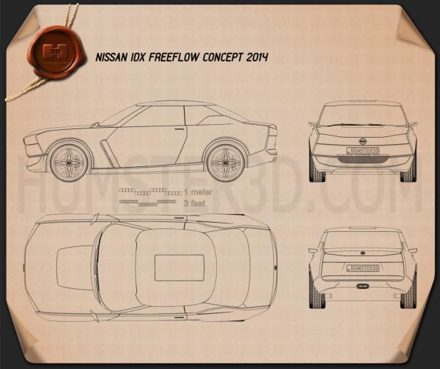 Nissan IDx Freeflow 2014 Clipart Image