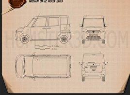 Nissan Dayz Roox 2013 clipart