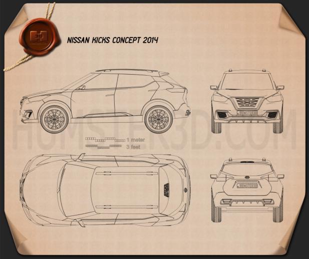 Nissan Kicks 2014 Clipart Image