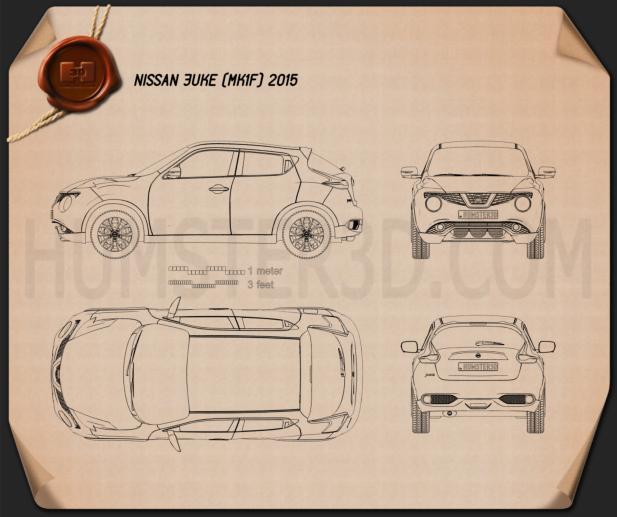 Nissan Juke 2015 Clipart Image