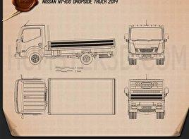 Nissan NT400 Dropside Truck 2014 clipart