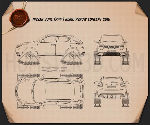 Nissan Juke Nismo RSnow 2015 Clipart Image