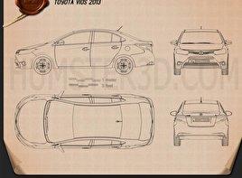 Toyota Vios 2013 car clipart