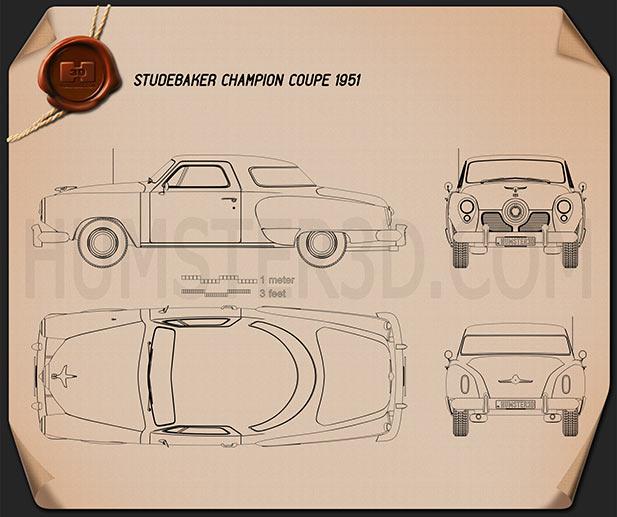 Studebaker Champion (Commander) hardtop 1951