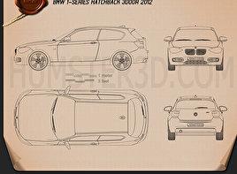 BMW 1 Series (F21) de 3 portas 2012 car clipart