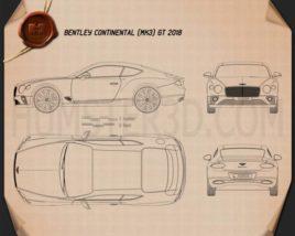 Bentley Continental GT 2018 car clipart